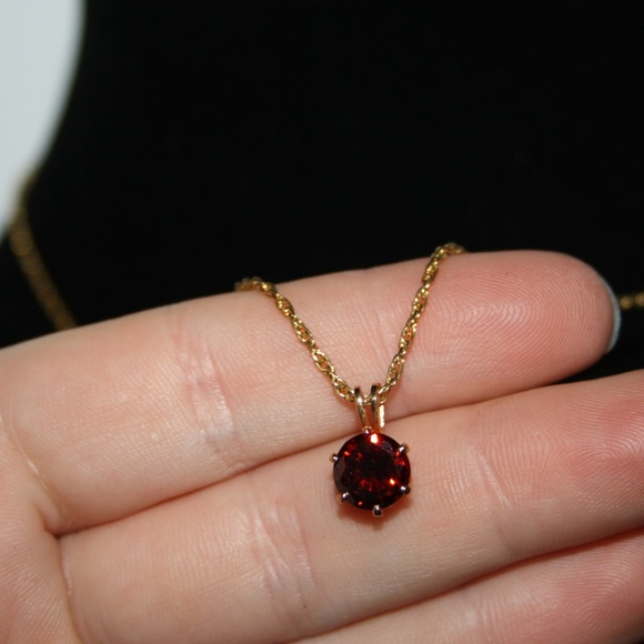 Vintage Jewelry - Vintage gold and ruby  necklace 12k gf
